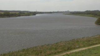 利根川 ライブカメラ(押付)・河川水位と雨雲レーダー/茨城県北相馬郡