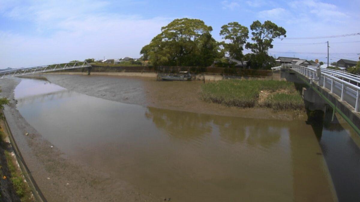 唐人川 ライブカメラ(琴比羅橋)と雨雲レーダー/熊本県玉名市