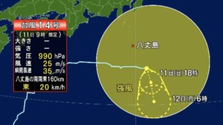 台風14号情報まとめ:関連するライブカメラ・その他情報