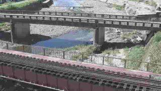 球磨川水系 山田川 ライブカメラ(くま川鉄道橋)と雨雲レーダー/熊本県人吉市鶴田町